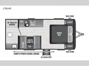 Hideout Single Axle 178LHS Floorplan Image