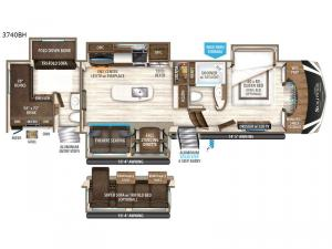 Solitude 3740BH Floorplan Image