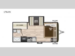 Hideout Single Axle 176LHS Floorplan Image