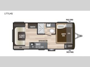 Hideout Single Axle 177LHS Floorplan Image