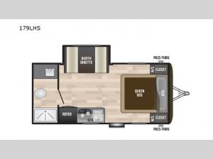 Hideout Single Axle 179LHS Floorplan Image