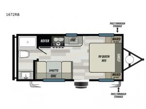 Sonoma 1672RB Floorplan Image