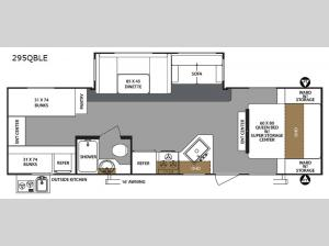 Surveyor 295QBLE Floorplan Image