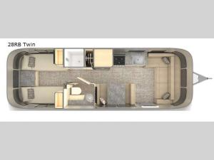 Flying Cloud 28RB Twin Floorplan Image