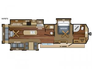 Jay Flight Bungalow 40FBTS Floorplan Image