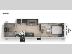 Cherokee Grey Wolf Black Label 29BRBBL Floorplan Image