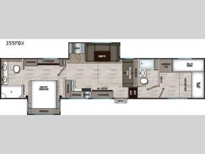 Chaparral X Edition 355FBX Floorplan Image
