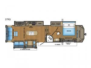 Designer 37RS Floorplan Image