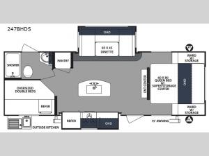 Surveyor 247BHDS Floorplan Image