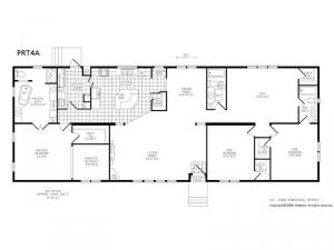 Double Section PRT 4 A Floorplan Image