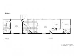 Single Section ACK 384 Floorplan Image