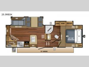 Eagle HT 25.5REOK Floorplan Image
