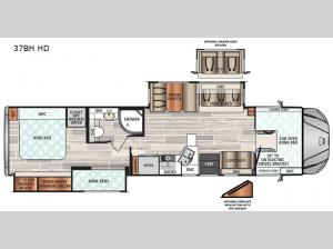 FORCE 37BH HD Floorplan Image