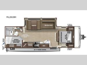 Mesa Ridge S-Lite ML261BH Floorplan Image