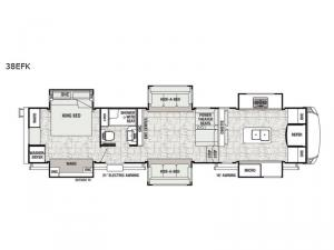 Cedar Creek Champagne Edition 38EFK Floorplan Image