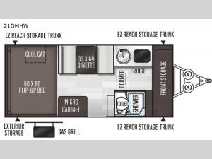 Flagstaff Hard Side High Wall Series 21DMHW Floorplan Image
