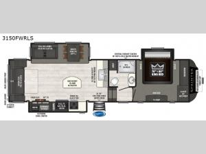 Sprinter 3150FWRLS Floorplan Image