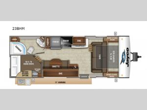 Jay Feather 23BHM Floorplan Image