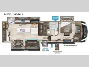 Solitude 345GK R Floorplan Image