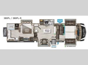 Solitude 380FL Floorplan Image