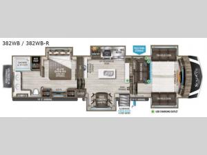 Solitude 382WB Floorplan Image