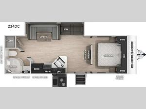 Cherokee Black Label 234DCBL Floorplan Image