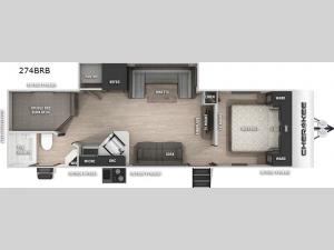 Cherokee Black Label 274BRBBL Floorplan Image