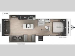 Cherokee Black Label 274WKBL Floorplan Image