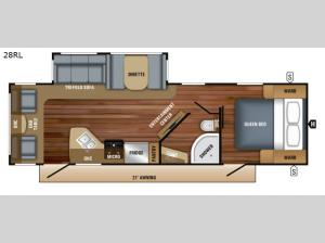 White Hawk 28RL Floorplan Image