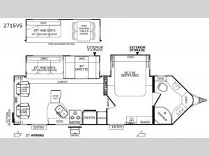 Rockwood Wind Jammer 2715VS Floorplan Image