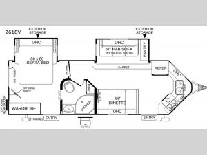 Rockwood Windjammer 2618V Floorplan Image