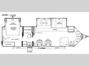 Rockwood Windjammer 3008V Floorplan Image