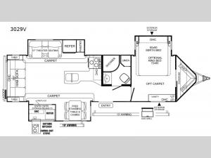 Rockwood Windjammer 3029V Floorplan Image