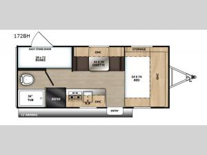 Catalina Summit Series 172BH Floorplan Image