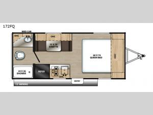 Catalina Summit Series 172FQ Floorplan Image
