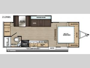 Catalina Summit Series 212RBS Floorplan Image