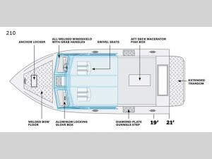 Sea Runner 210 Floorplan Image