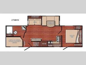 Conquest 276BHS Floorplan Image