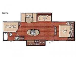 Conquest 288ISL Floorplan Image