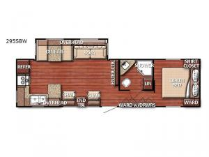 Conquest 295SBW Floorplan Image