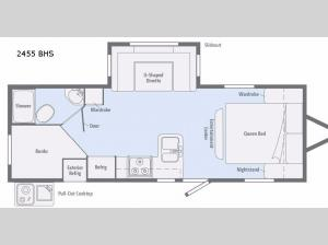 Minnie 2455BHS Floorplan Image