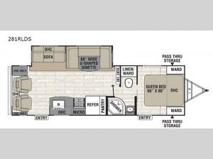 Freedom Express Ultra Lite 281RLDS Floorplan Image