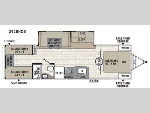 Freedom Express Ultra Lite 292BHDS Floorplan Image