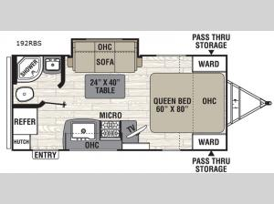 Freedom Express Ultra Lite 192RBS Floorplan Image