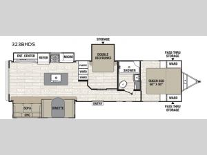 Freedom Express Ultra Lite 323BHDS Floorplan Image