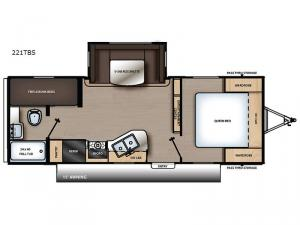 Catalina SBX 221TBS Floorplan Image