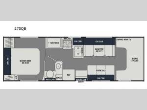 Leprechaun 270QB Ford 350 Floorplan Image