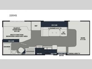 Leprechaun 220XG Ford 350 Floorplan Image