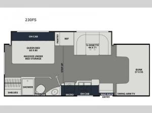 Leprechaun 230FS Ford 350 Floorplan Image