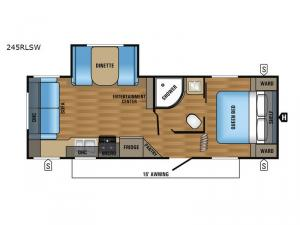 Jay Flight SLX 245RLSW Floorplan Image
